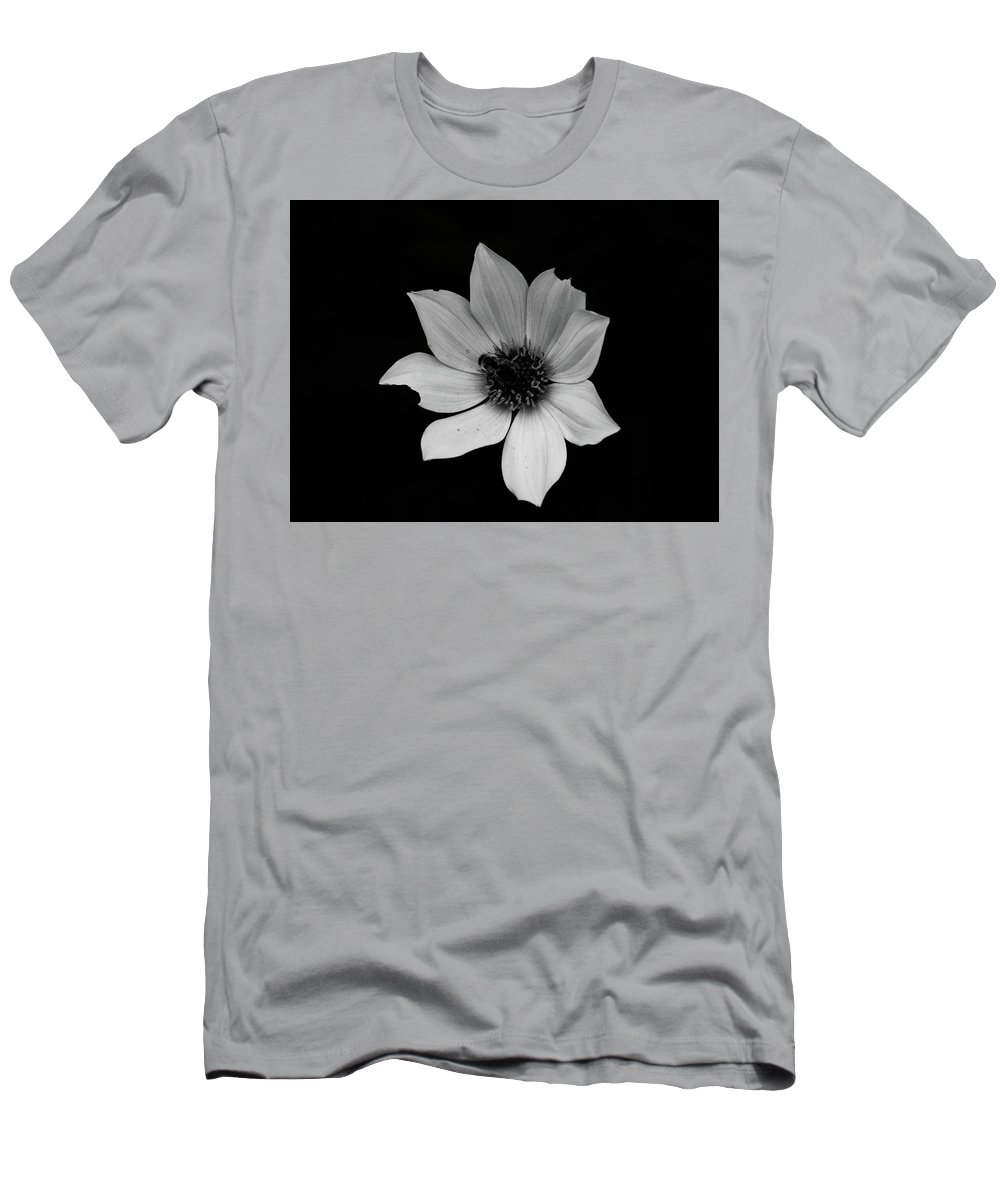 Floral Men's T-Shirt (Athletic Fit) featuring the photograph White On Black by BiR Fotos