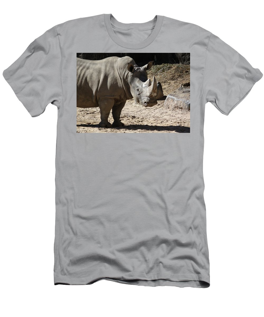 Maryland Men's T-Shirt (Athletic Fit) featuring the photograph White Rhino by Ronald Reid
