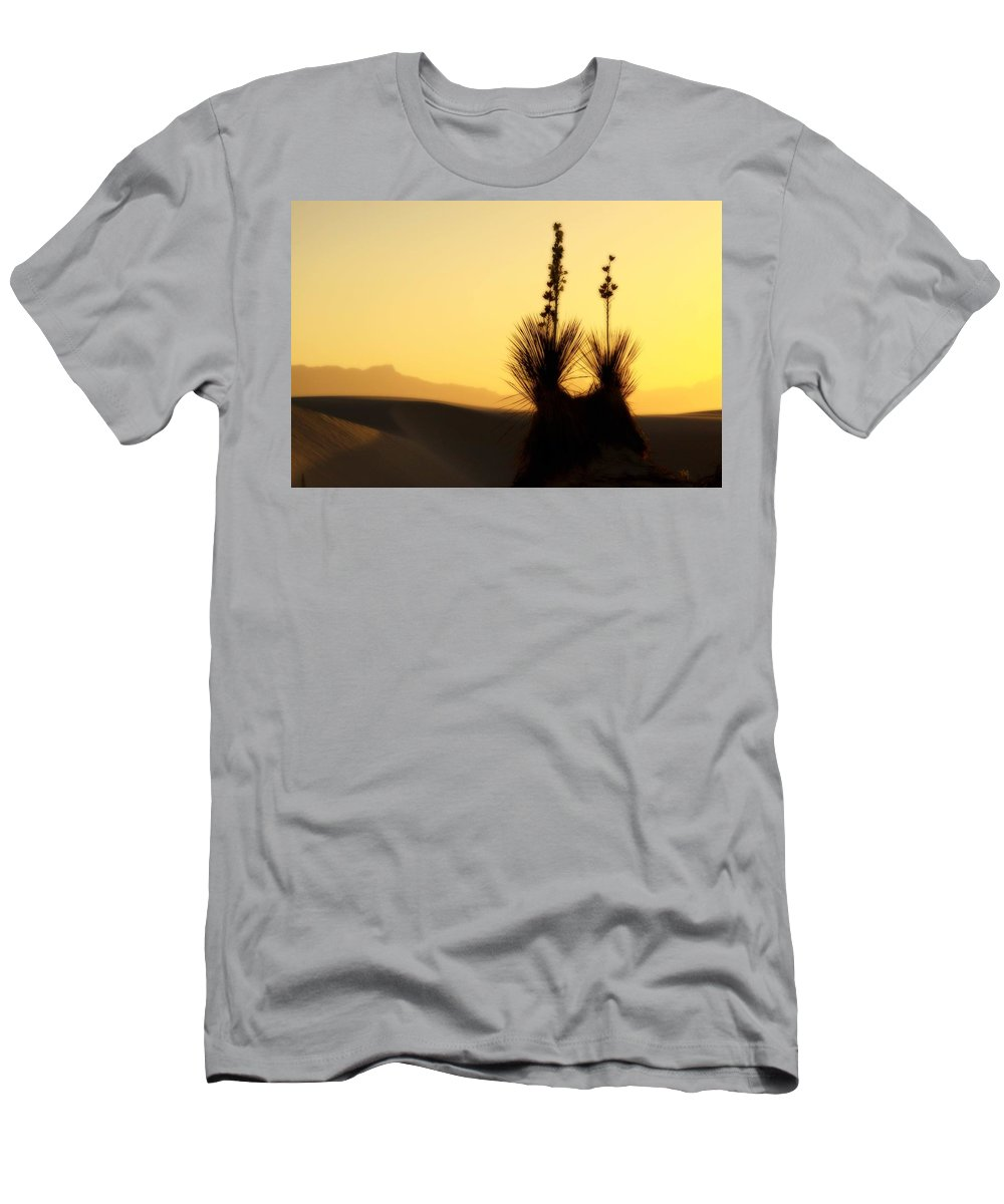 White Sands National Monument Men's T-Shirt (Athletic Fit) featuring the photograph White Sands Sunset by Jill Smith