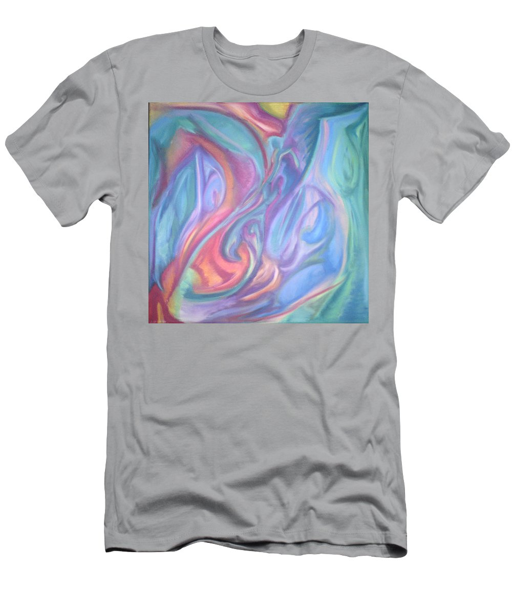 Men's T-Shirt (Athletic Fit) featuring the pastel Whitout Titel by Sitara Bruns