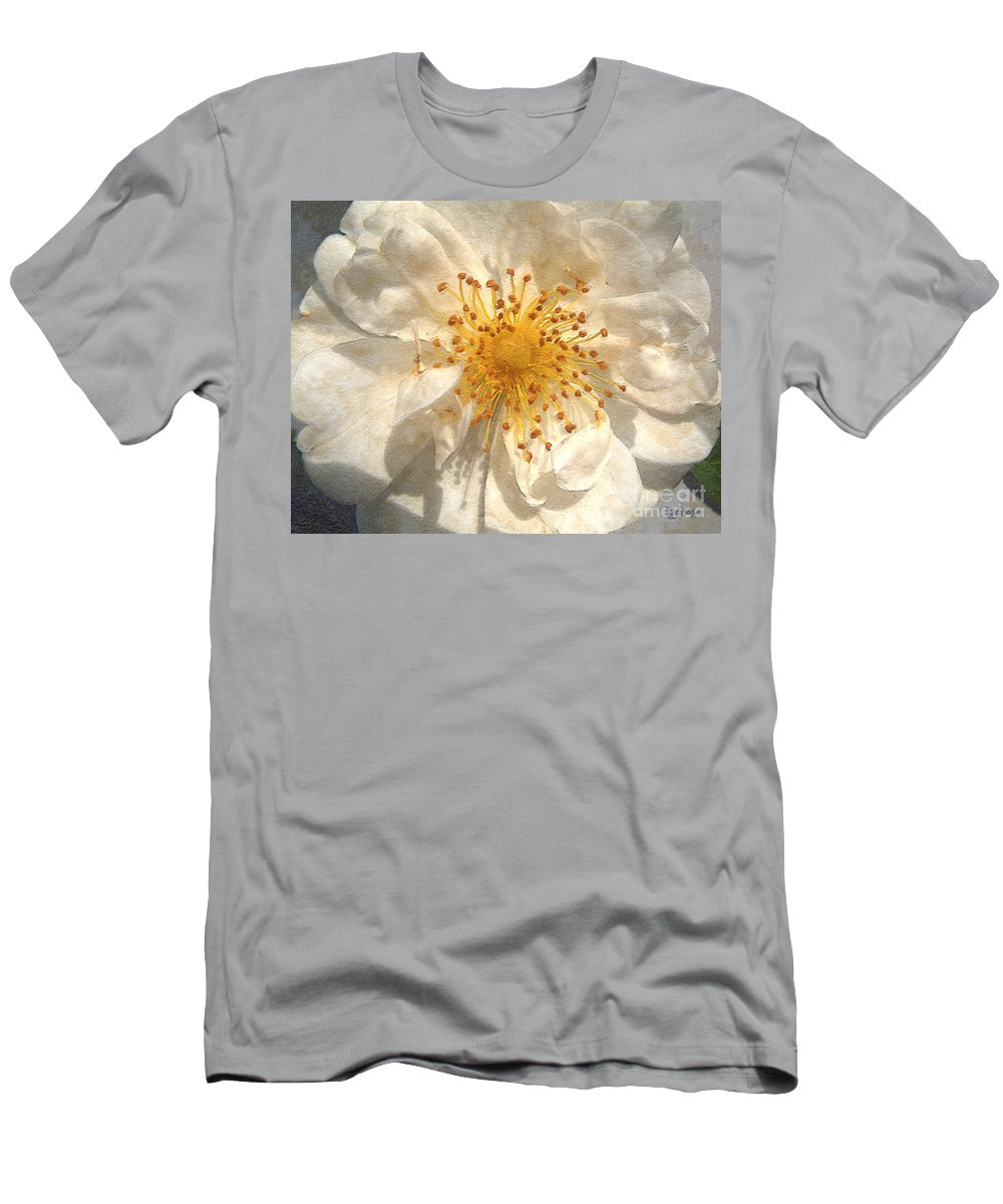 Rose Men's T-Shirt (Athletic Fit) featuring the painting Wide Open by RC deWinter