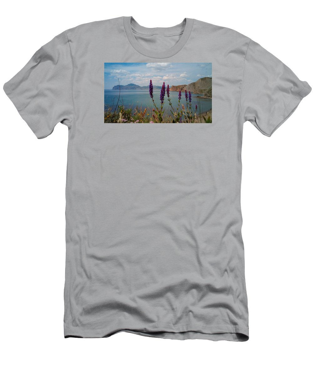 Wild Men's T-Shirt (Athletic Fit) featuring the photograph Wild Lupines by Yuri Hope