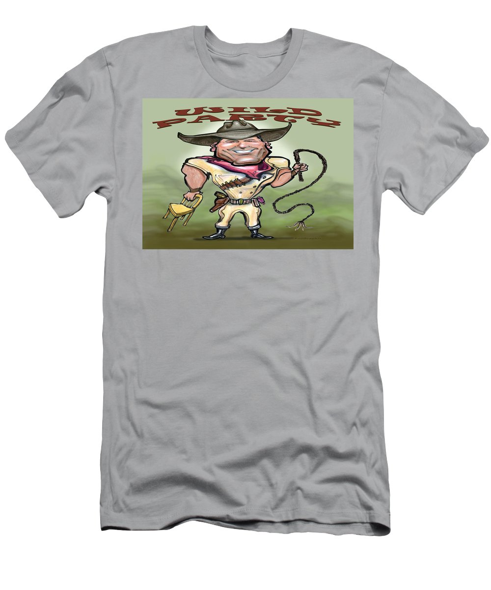 Wild Party Men's T-Shirt (Athletic Fit) featuring the greeting card Wild Party by Kevin Middleton