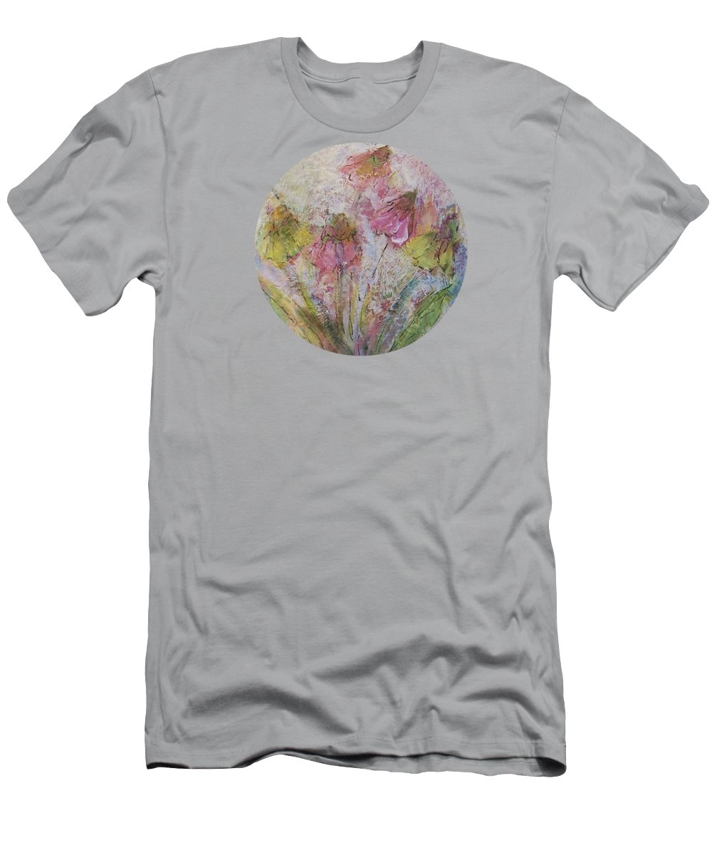 Wildflowers Men's T-Shirt (Athletic Fit) featuring the painting Wildflowers 2 by Mary Wolf