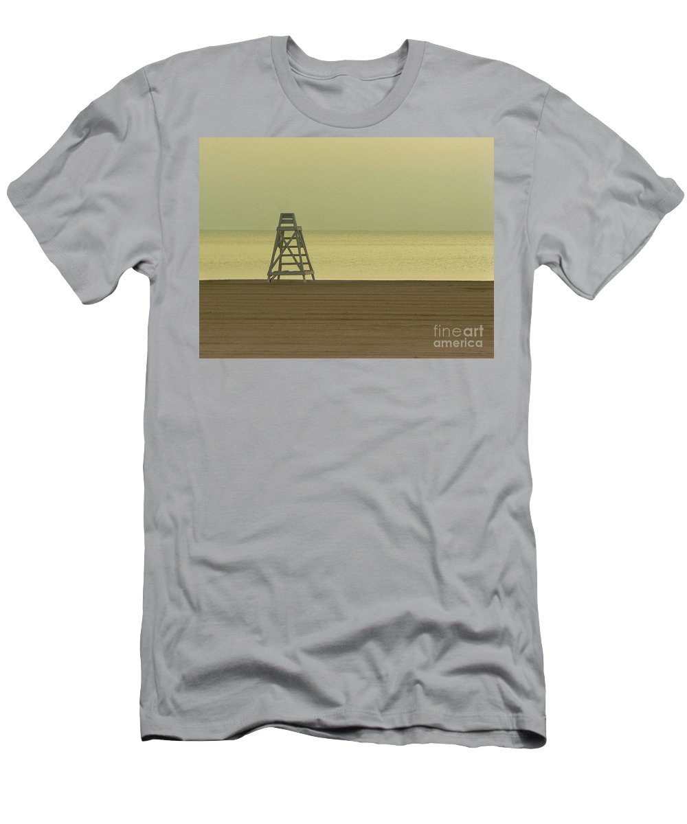 Beach Men's T-Shirt (Athletic Fit) featuring the photograph Will You Lay Here With Me And Just Forget The World by Dana DiPasquale