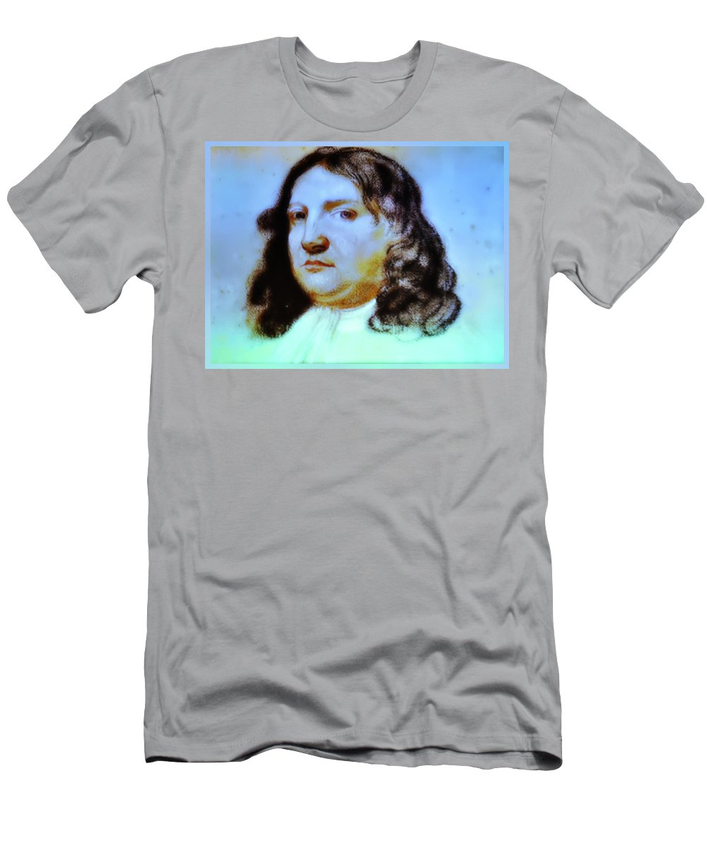 William Penn Men's T-Shirt (Athletic Fit) featuring the photograph William Penn Portrait by Bill Cannon