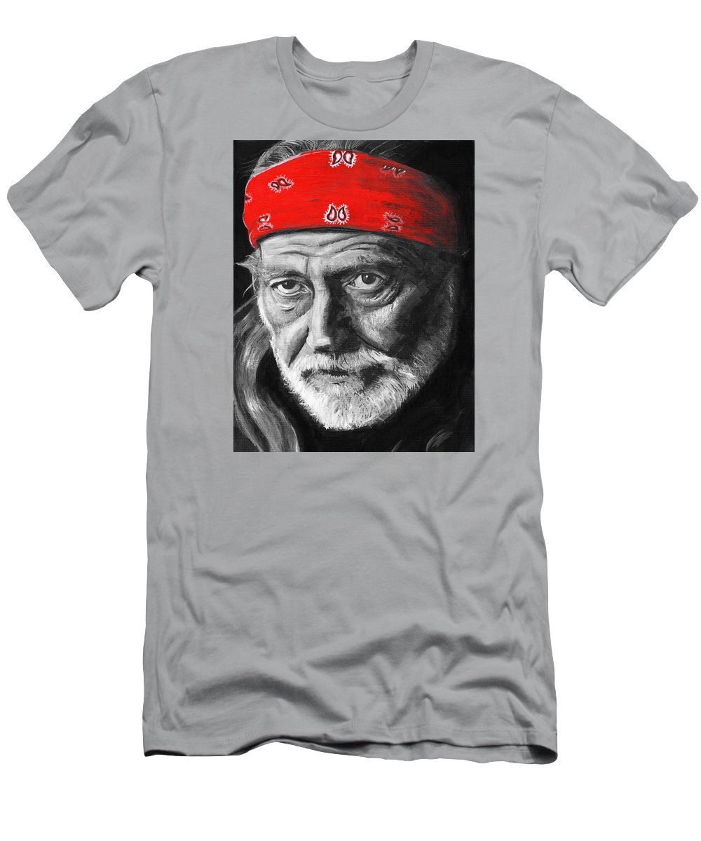 Willie Men's T-Shirt (Athletic Fit) featuring the painting Willie by Charles Bickel