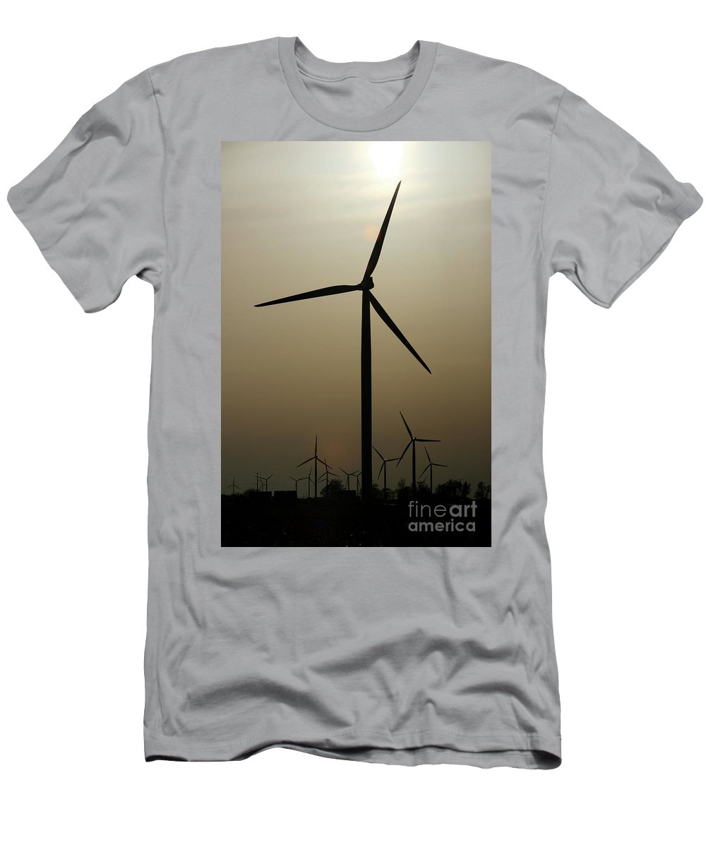 Art Men's T-Shirt (Athletic Fit) featuring the photograph Wind Farm by Alan Look