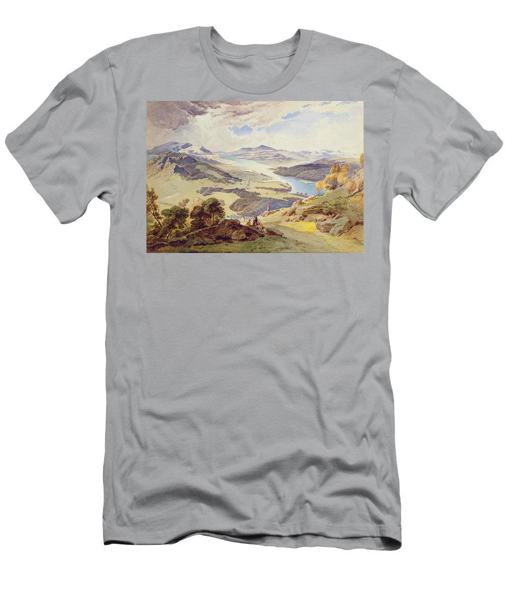 Windermere Men's T-Shirt (Athletic Fit) featuring the painting Windermere From Ormot Head by William Turner