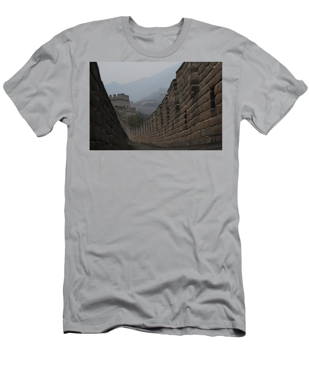 China Men's T-Shirt (Athletic Fit) featuring the photograph Winding Path by Trevor Sciara