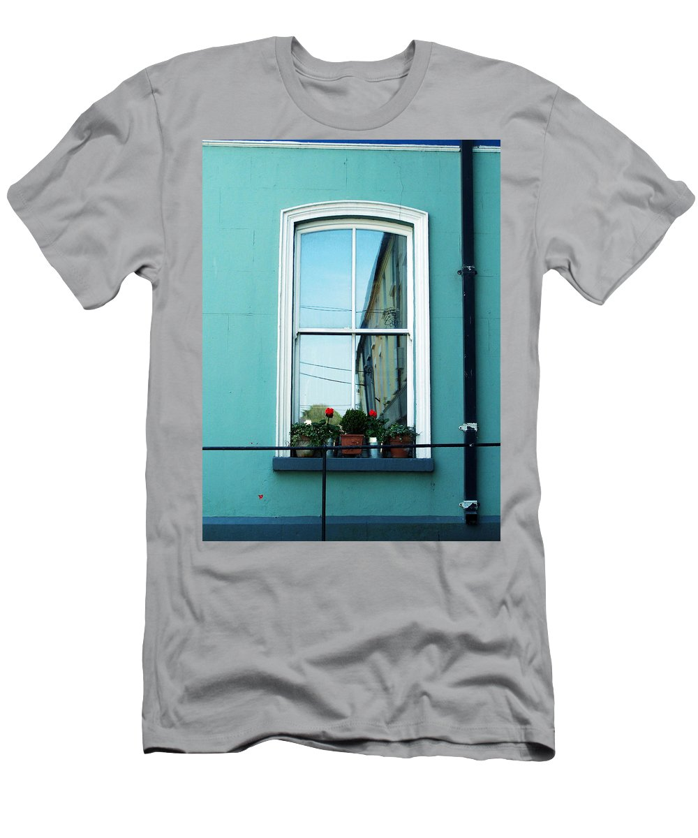 Irish T-Shirt featuring the photograph Window in Ennistymon Ireland by Teresa Mucha