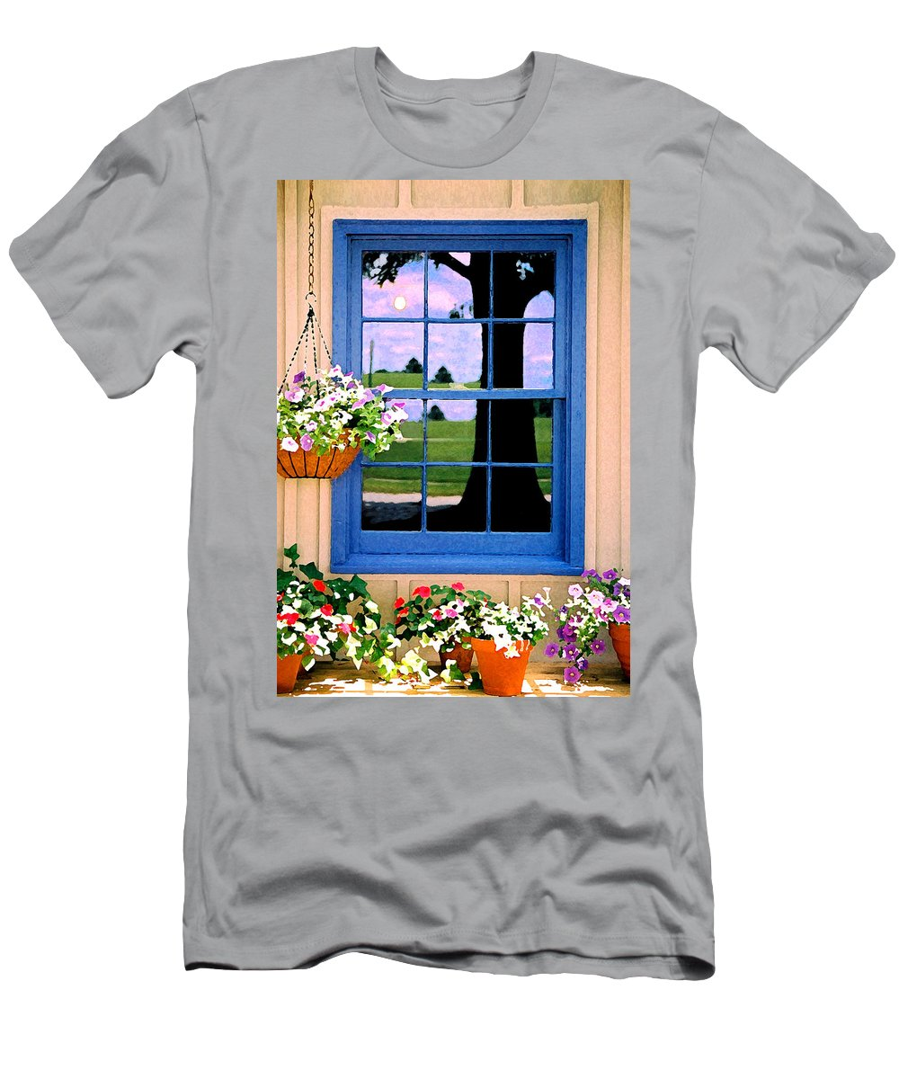 Still Life Men's T-Shirt (Athletic Fit) featuring the photograph Window by Steve Karol