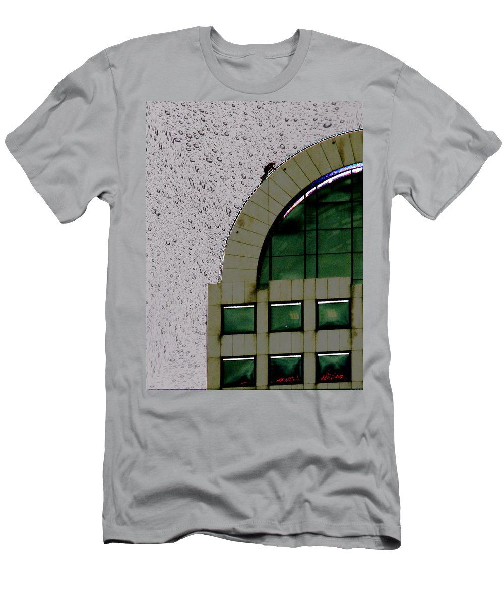 Seattle Men's T-Shirt (Athletic Fit) featuring the photograph Window Washer by Tim Allen