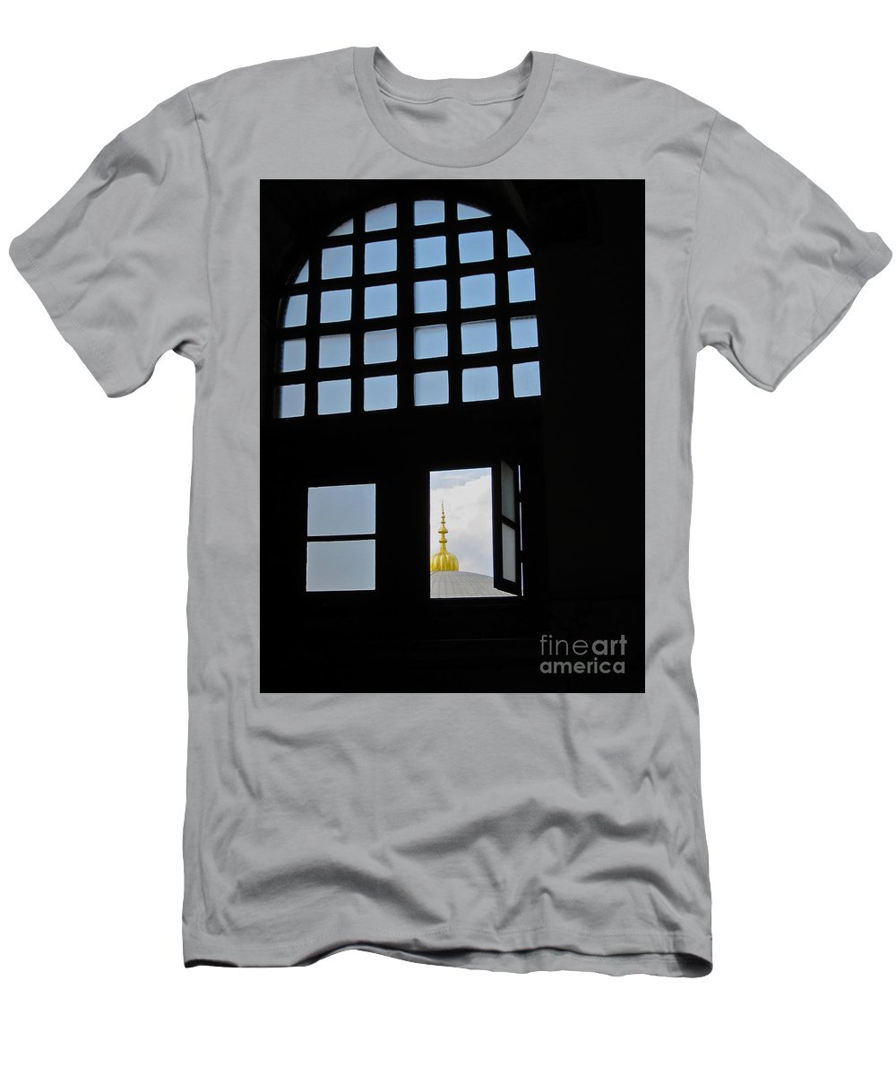 Turkey Men's T-Shirt (Athletic Fit) featuring the photograph Window With A View by Natalie Soroka