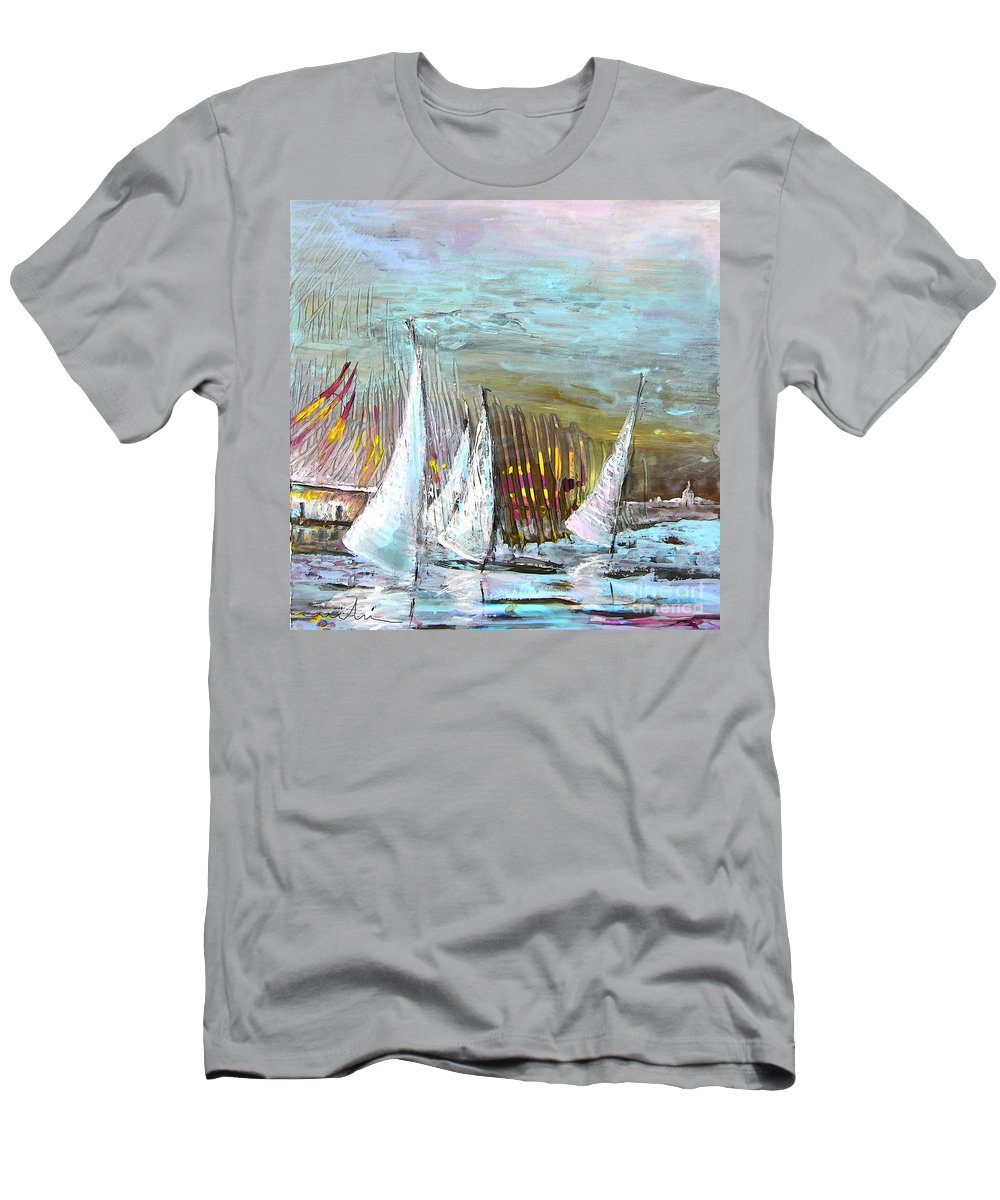 Acrylics Men's T-Shirt (Athletic Fit) featuring the painting Windsurf Impression 03 by Miki De Goodaboom