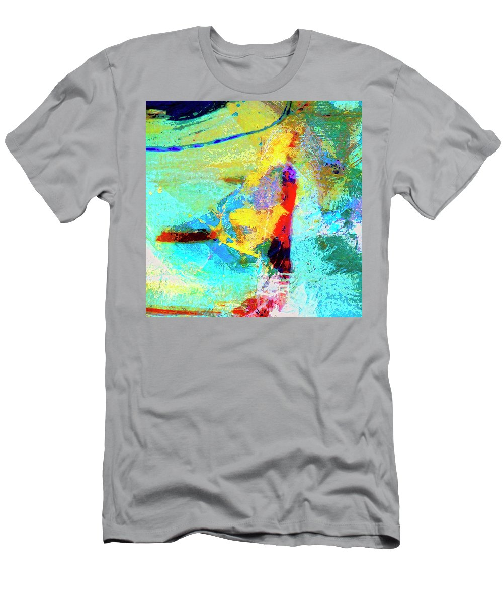 Abstract Men's T-Shirt (Athletic Fit) featuring the painting Windsurfing by Dominic Piperata