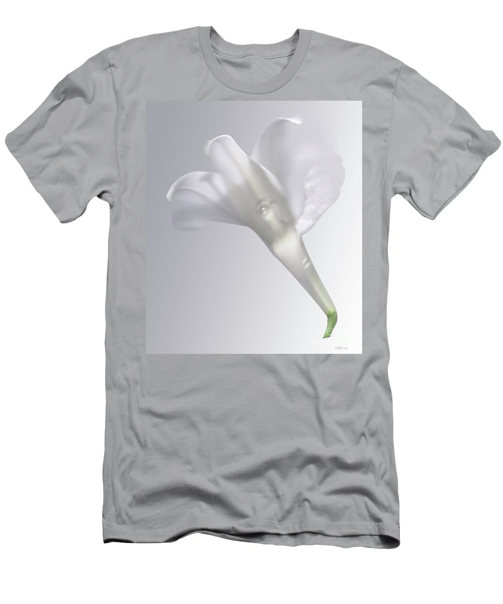 Men's T-Shirt (Athletic Fit) featuring the photograph Winged Woman In White Lily by Heather Kirk