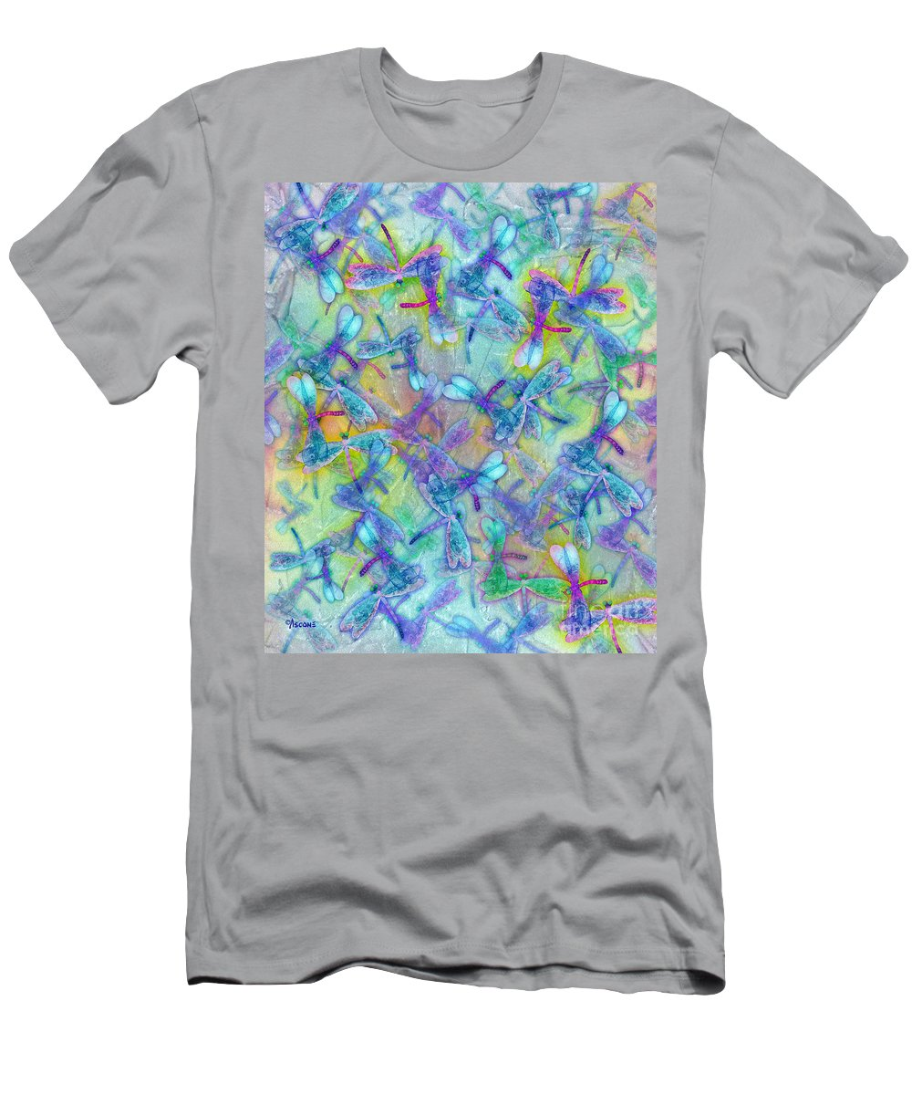 Wings Iii Large Format Men's T-Shirt (Athletic Fit) featuring the painting Wings IIi Large Image by Teresa Ascone