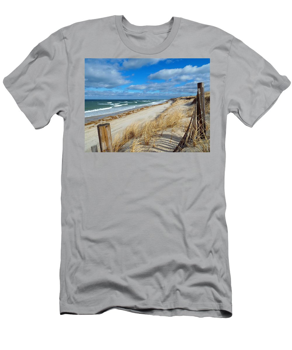 Cape Cod Men's T-Shirt (Athletic Fit) featuring the photograph Winter Beach View by Dianne Cowen