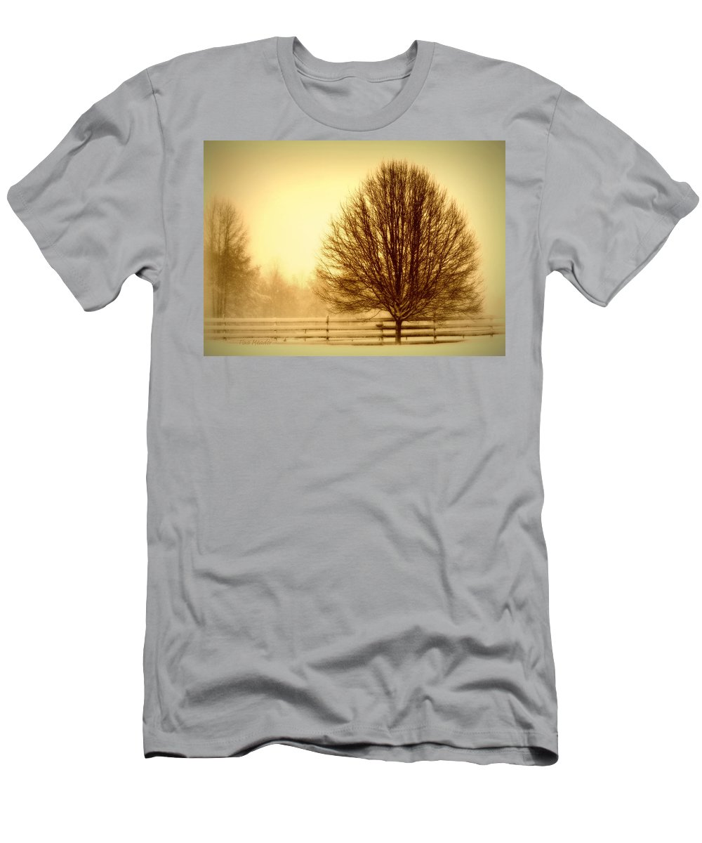 Winter Men's T-Shirt (Athletic Fit) featuring the photograph Winter Calm by Tina Meador