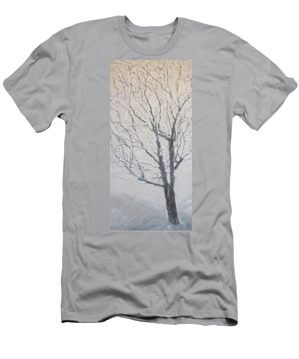 Tree T-Shirt featuring the painting Winter by Leah Tomaino
