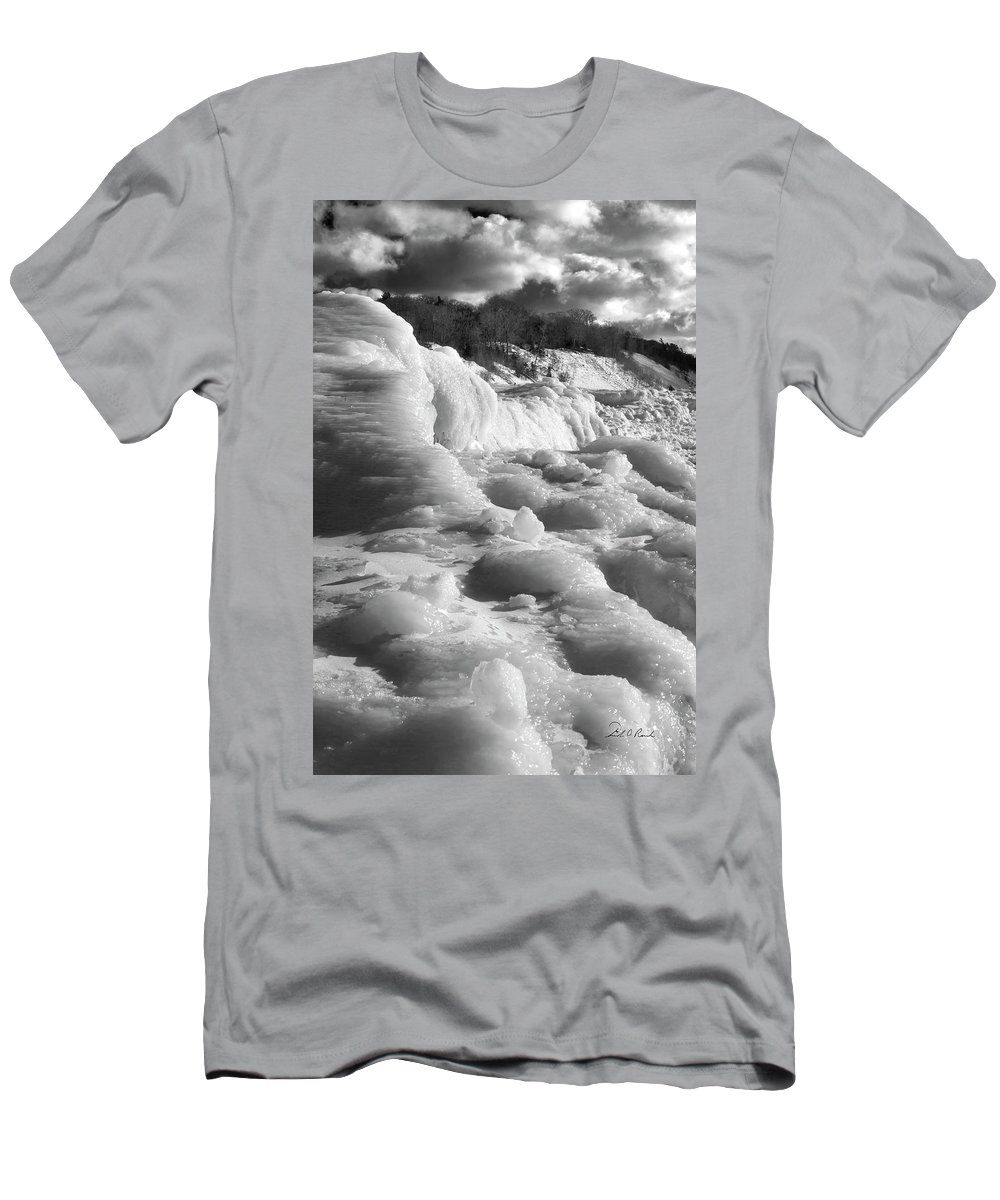 Photography Men's T-Shirt (Athletic Fit) featuring the photograph Winter Texture by Frederic A Reinecke