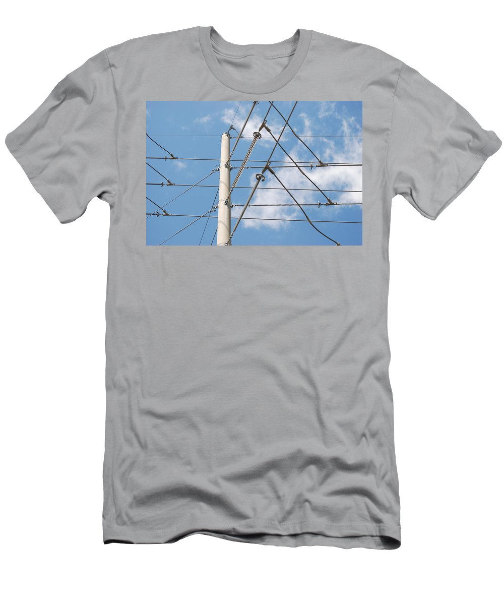 Sky Men's T-Shirt (Athletic Fit) featuring the photograph Wired Sky by Rob Hans