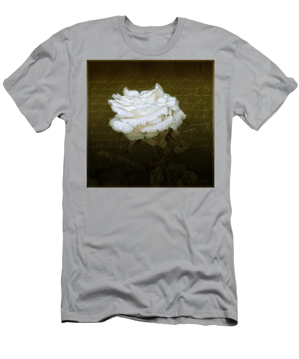 Floral Men's T-Shirt (Athletic Fit) featuring the photograph With Love by Holly Kempe