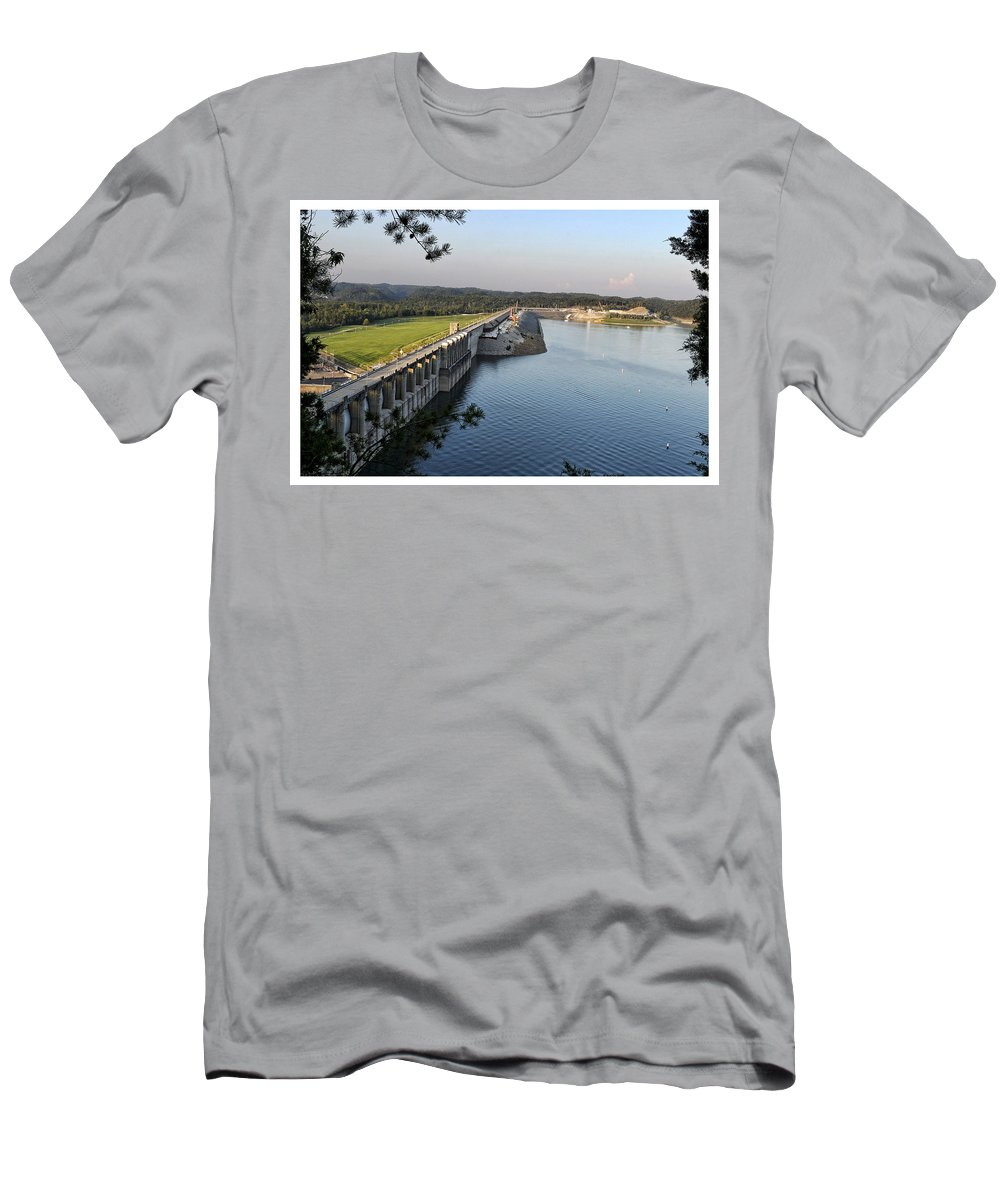 Wolf Men's T-Shirt (Athletic Fit) featuring the photograph Wolf Creek Dam by Amber Flowers