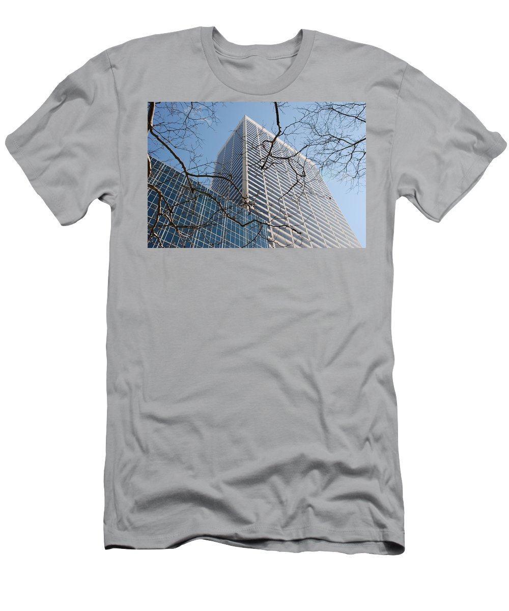 Architecture Men's T-Shirt (Athletic Fit) featuring the photograph Wood And Glass by Rob Hans