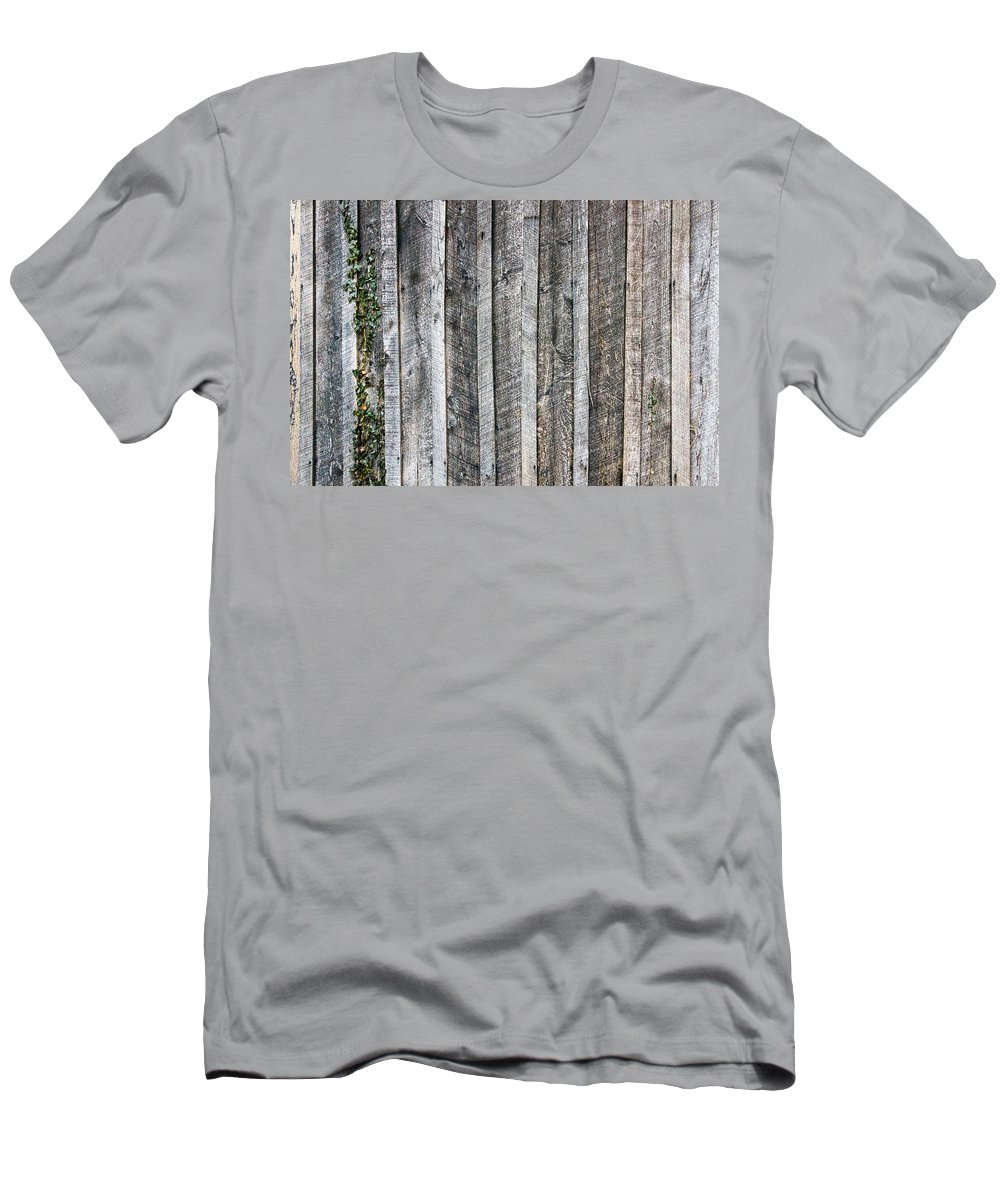 Americana Men's T-Shirt (Athletic Fit) featuring the photograph Wooden Fence And Ivy by SR Green