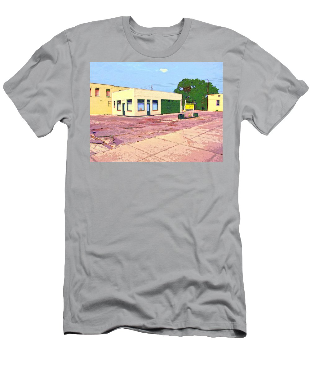 Abandoned Men's T-Shirt (Athletic Fit) featuring the mixed media World Headquarters by Dominic Piperata