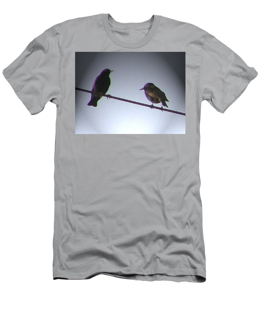 Abstract Men's T-Shirt (Athletic Fit) featuring the photograph Wren Ya Goin Out Wit Me by Lenore Senior