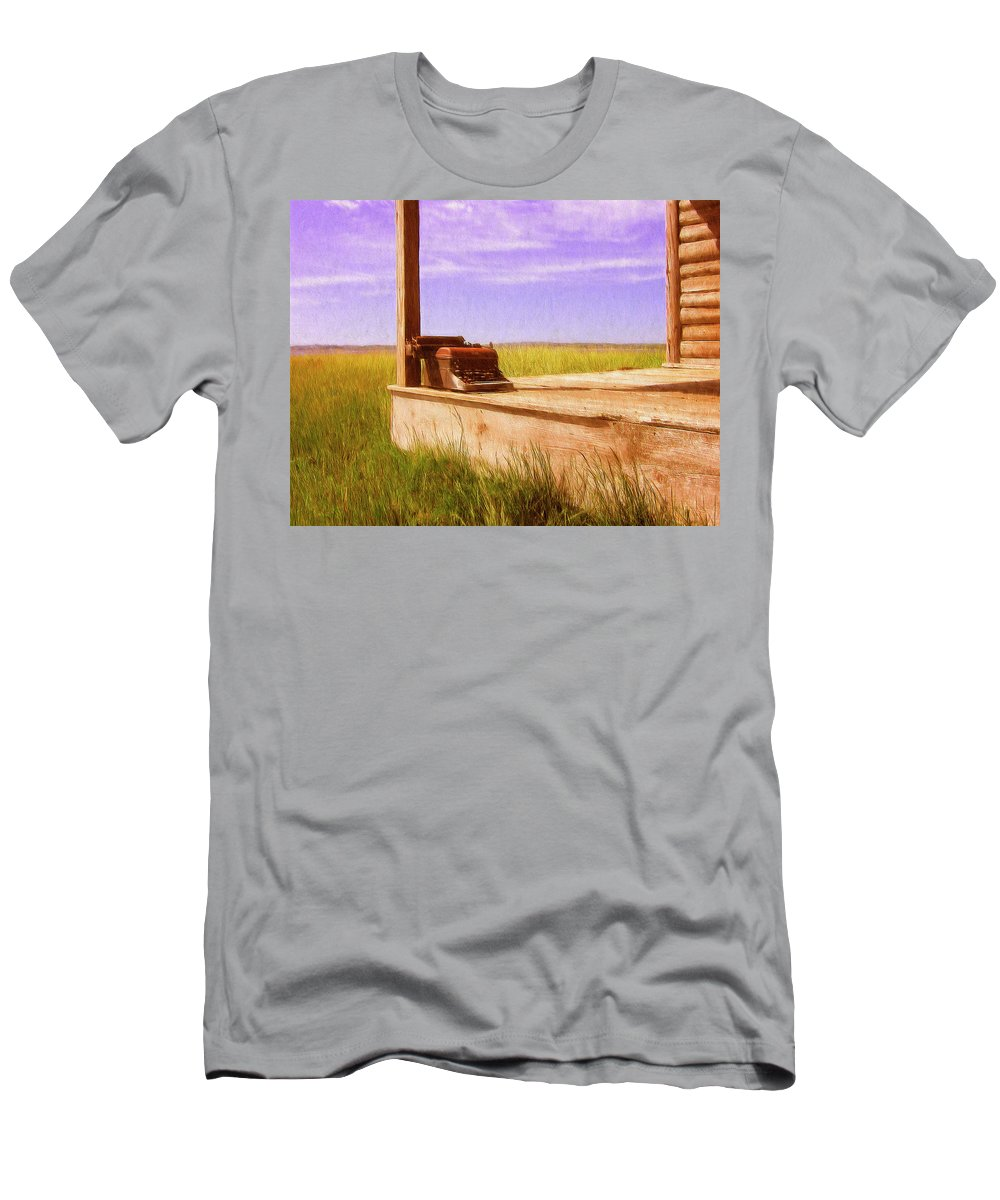 Porch Men's T-Shirt (Athletic Fit) featuring the painting Writers Block by Dominic Piperata