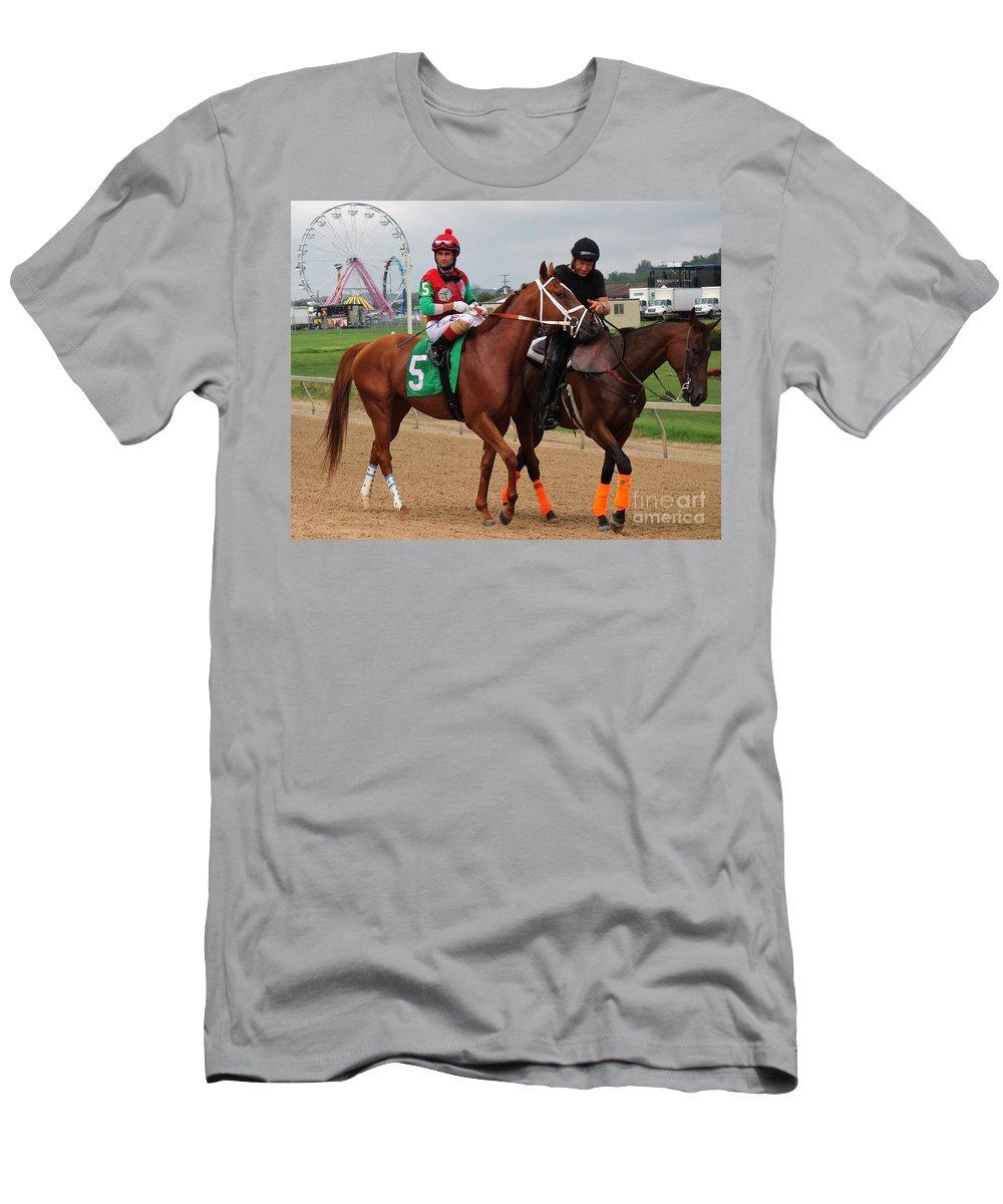 Xavier Perez Men's T-Shirt (Athletic Fit) featuring the photograph Xavier Perez - Ten Hut - Timonium by Anthony Schafer