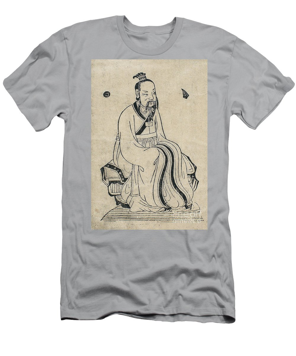 Science Men's T-Shirt (Athletic Fit) featuring the photograph Yellow Emperor, Legendary Chinese by Wellcome Images
