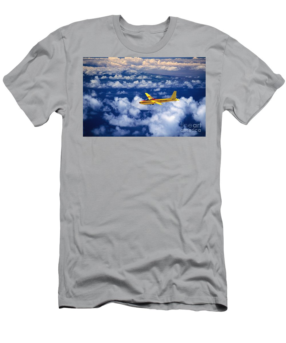 Air Men's T-Shirt (Athletic Fit) featuring the photograph Yellow Glider by Ray Mains - Printscapes