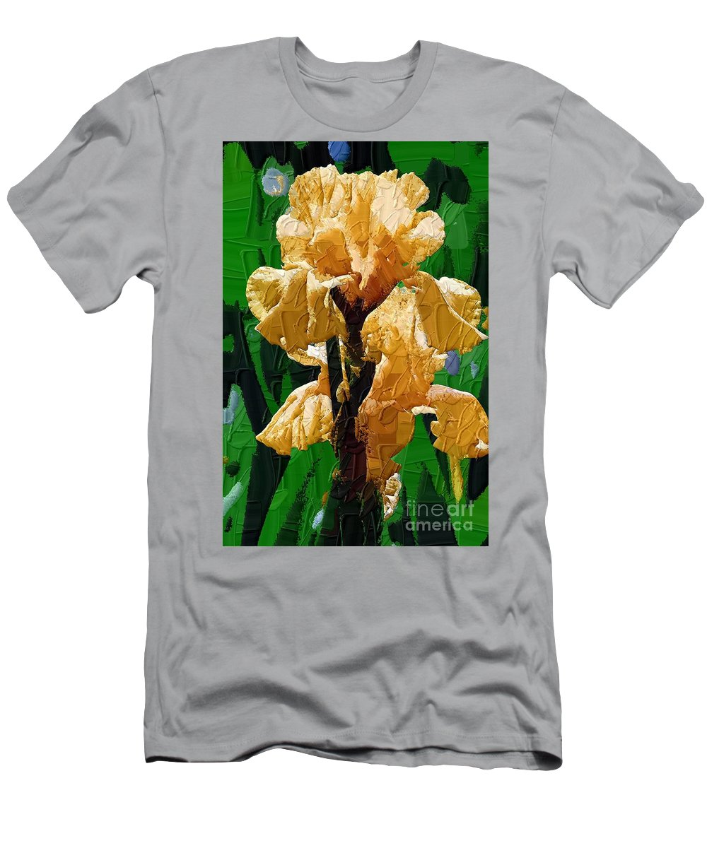 Diane Berry T-Shirt featuring the painting Yellow Iris by Diane E Berry