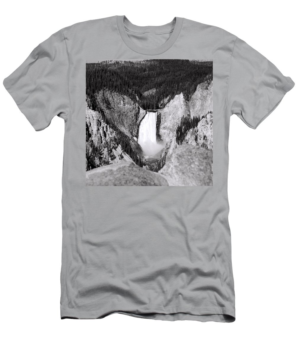 America Men's T-Shirt (Athletic Fit) featuring the photograph Yellowstone 142 by Ingrid Smith-Johnsen