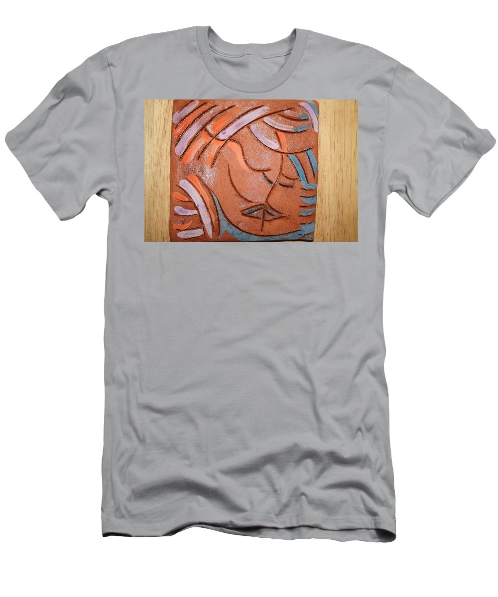 Jesus Men's T-Shirt (Athletic Fit) featuring the ceramic art You And Me - Tile by Gloria Ssali