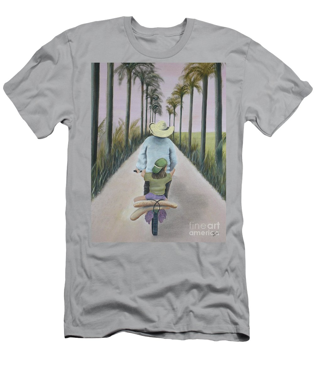Tropical Men's T-Shirt (Athletic Fit) featuring the painting You're The Best by Kris Crollard