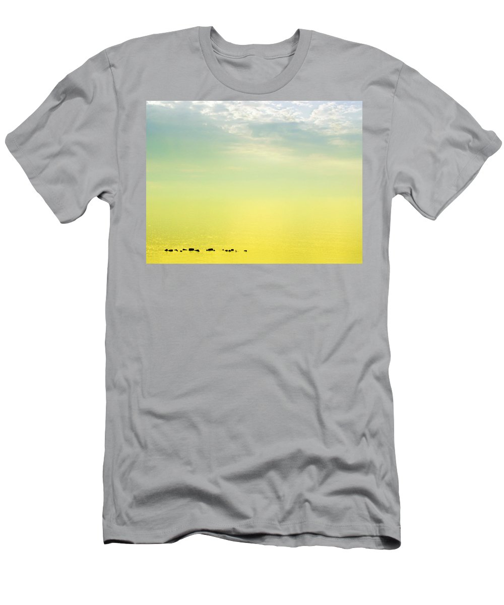 Zen Men's T-Shirt (Athletic Fit) featuring the photograph Zen Seascape by Silvia Ganora
