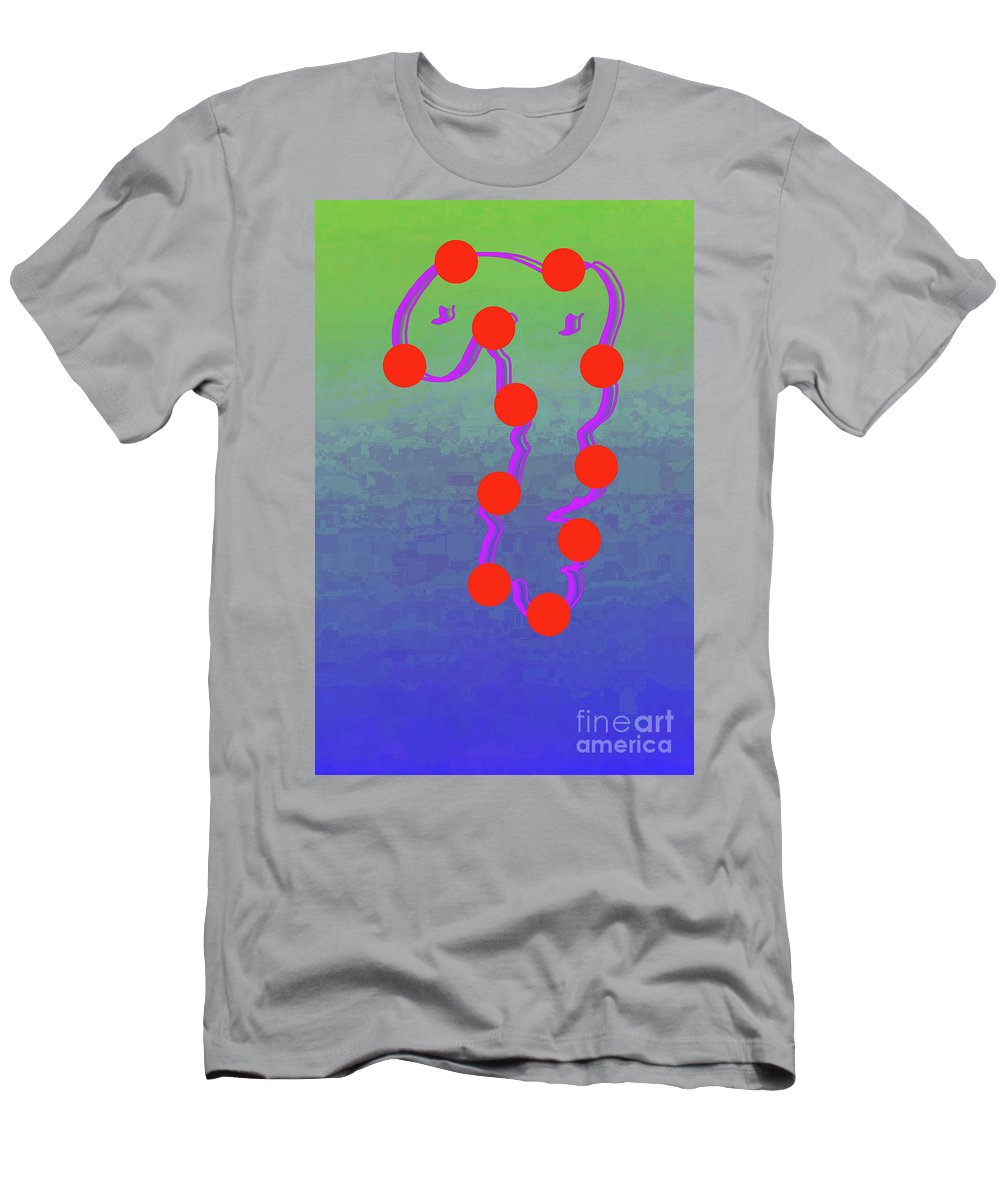 Walter Paul Bebirian Men's T-Shirt (Athletic Fit) featuring the digital art 11-6-2015dabcdefghijklmnopqrtuvwxyzabcde by Walter Paul Bebirian
