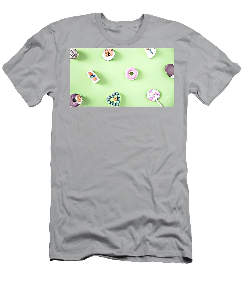 Urban Men's T-Shirt (Athletic Fit) featuring the digital art 11 Eat Me Now by Leo Rodriguez
