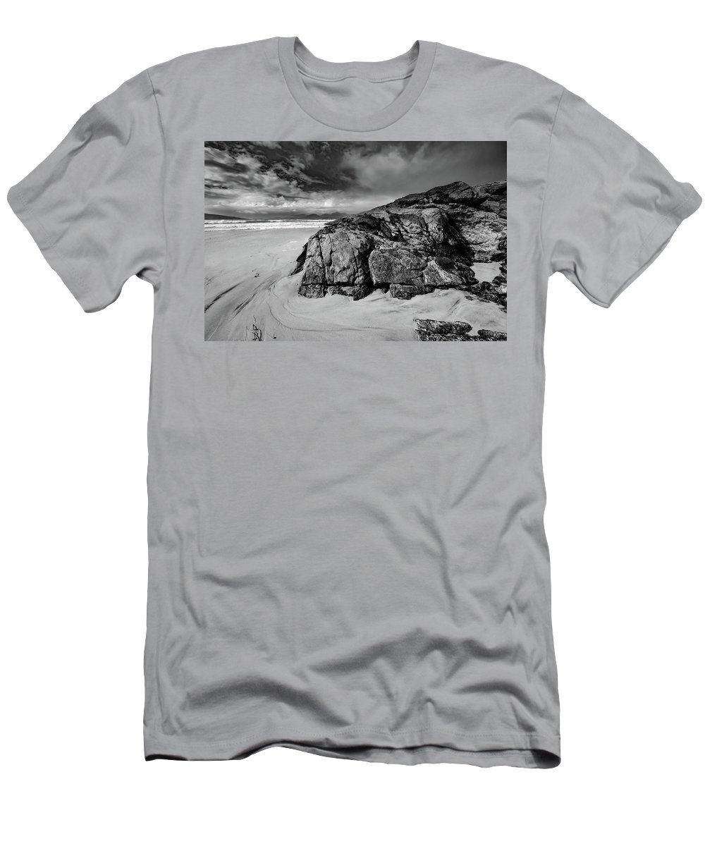 Luskentyre Beach Men's T-Shirt (Athletic Fit) featuring the mixed media Luskentyre by Smart Aviation