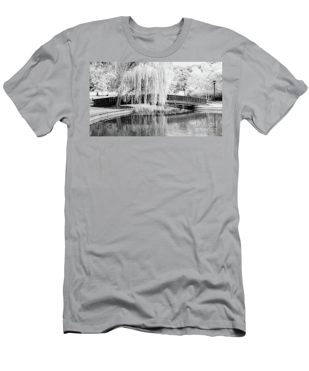 Black And White Photographs Men's T-Shirt (Athletic Fit) featuring the photograph Reflections Of The Landscape by Terri Morris