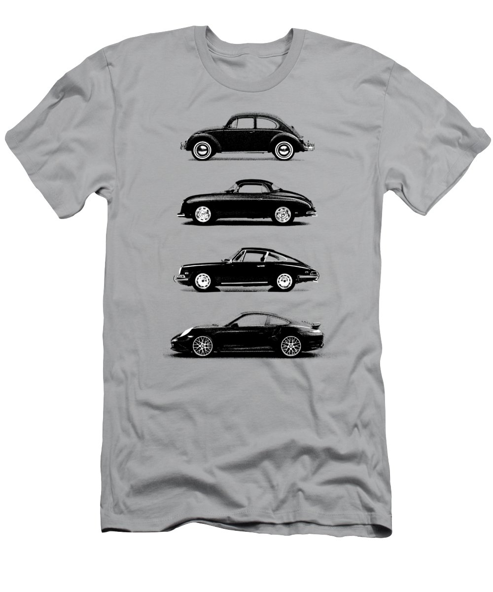 Porsche T-Shirt featuring the photograph Evolution by Mark Rogan