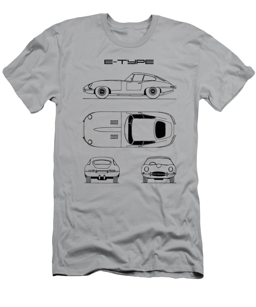 f4b26d09 Jaguar E-type Men's T-Shirt (Athletic Fit) featuring the photograph Jaguar