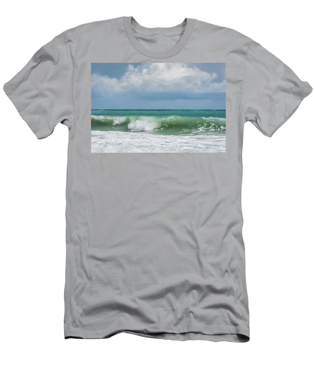 Ocean Men's T-Shirt (Athletic Fit) featuring the photograph Atlantic Ocean by Zina Stromberg