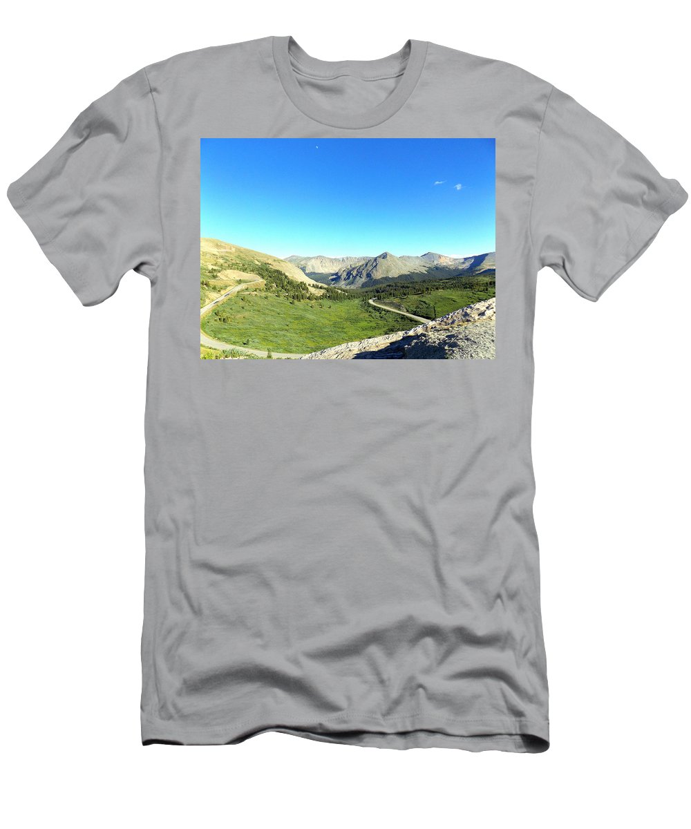 Landscape Men's T-Shirt (Athletic Fit) featuring the photograph Before The Climb by Tonya Sisco